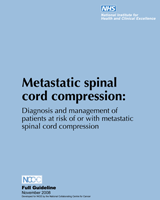 Cover of Metastatic Spinal Cord Compression