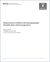 Cover of Depression in children and young people: identification and management