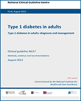 Cover of Type 1 Diabetes in Adults: Diagnosis and Management