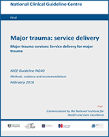 Cover of Major Trauma: Service Delivery