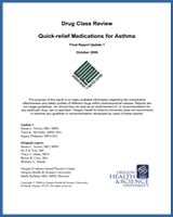 Cover of Drug Class Review: Quick-relief Medications for Asthma