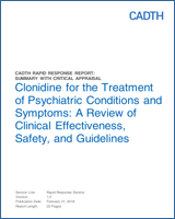 Clonidine for the Treatment of Psychiatric Conditions and