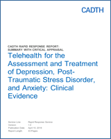 Telehealth for the Assessment and Treatment of Depression