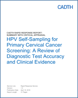 HPV Self-Sampling for Primary Cervical Cancer Screening: A