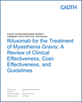 Rituximab for the Treatment of Myasthenia Gravis: A Review