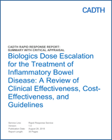 Biologics Dose Escalation for the Treatment of Inflammatory
