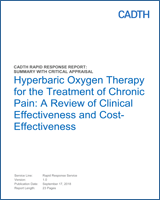Literature Review Hbot Is Not >> Hyperbaric Oxygen Therapy For The Treatment Of Chronic Pain A