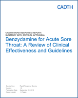 Benzydamine for Acute Sore Throat: A Review of Clinical