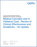 Cover of Medical Cannabis Use in Palliative Care: Review of Clinical Effectiveness and Guidelines – An Update