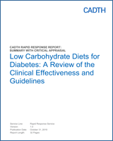 Low Carbohydrate Diets For Diabetes A Review Of The Clinical
