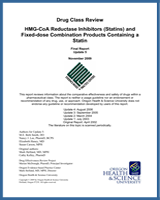 Cover of Drug Class Review: HMG-CoA Reductase Inhibitors (Statins) and Fixed-dose Combination Products Containing a Statin