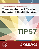 Cover of Trauma-Informed Care in Behavioral Health Services