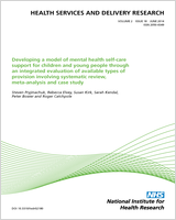 Cover of Improving community health networks for people with severe mental illness: a case study investigation