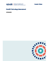 Cover of Health Technology Assessment