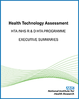 Cover of NIHR Health Technology Assessment programme: Executive Summaries