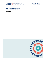 Cover of Public Health Research