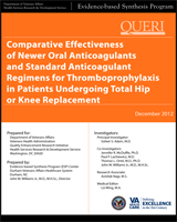 Cover of Comparative Effectiveness of Newer Oral Anticoagulants and Standard Anticoagulant Regimens for Thromboprophylaxis in Patients Undergoing Total Hip or Knee Replacement