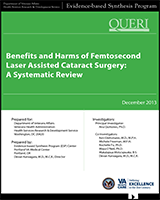 Cover of Benefits and Harms of Femtosecond Laser Assisted Cataract Surgery: A Systematic Review