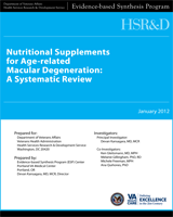 Cover of Nutritional Supplements for Age-Related Macular Degeneration: A Systematic Review