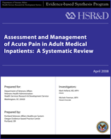 Cover of Assessment and Management of Acute Pain in Adult Medical Inpatients