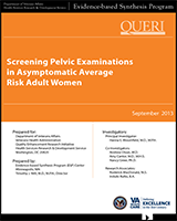 Cover of Screening Pelvic Examinations in Asymptomatic Average Risk Adult Women