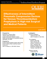 8da2eb9022ed8b Cover of Effectiveness of Intermittent Pneumatic Compression Devices for  Venous Thromboembolism Prophylaxis in High-risk