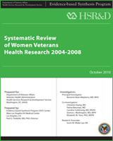 Cover of Systematic Review of Women Veterans Health Research 2004–2008