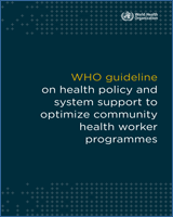 References - WHO Guideline on Health Policy and System