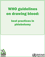 Cover of WHO Guidelines on Drawing Blood