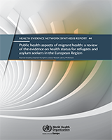 Cover of Public Health Aspects of Migrant Health: A Review of the Evidence on Health Status for Refugees and Asylum Seekers in the European Region