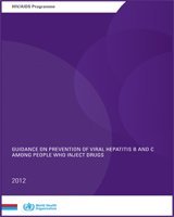 Cover of Guidance on Prevention of Viral Hepatitis B and C Among People Who Inject Drugs