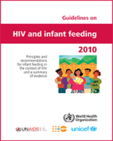 Cover of Guidelines on HIV and Infant Feeding 2010