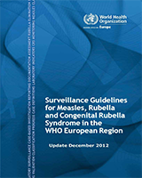 Cover of Surveillance Guidelines for Measles, Rubella and Congenital Rubella Syndrome in the WHO European Region