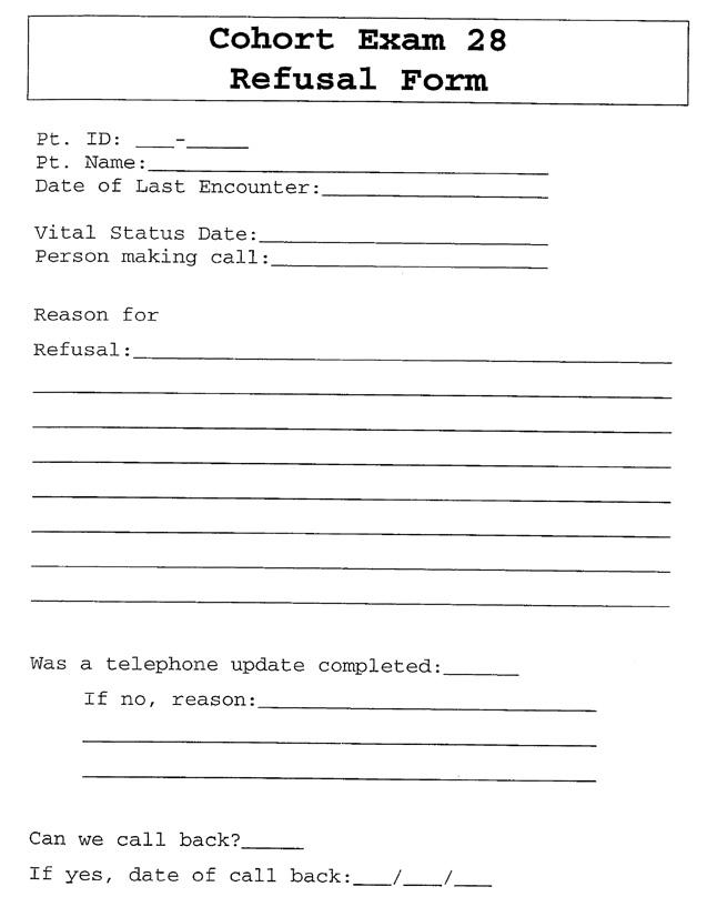 Clinic Exam, Original Cohort, Exam 28: Protocol (dbGaP ID