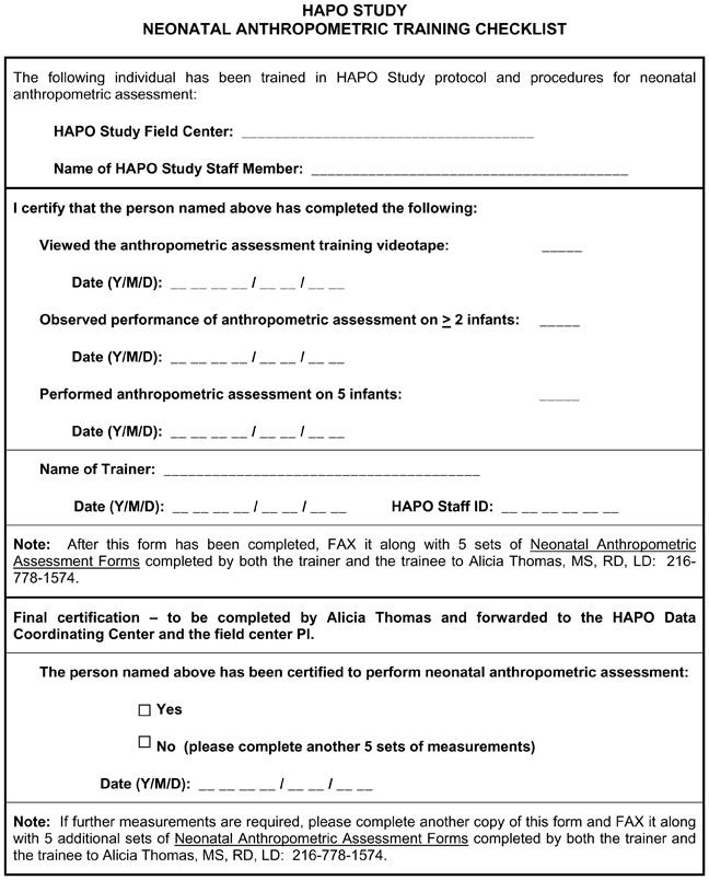 8 Birth And Neonatal Data Collection Dbgap Id Phd002813