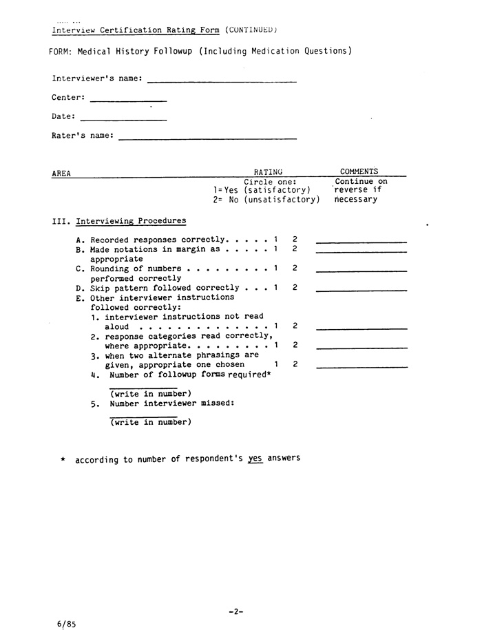 Manual of Operations, 6/85 (dbGaP ID: phd003282) on
