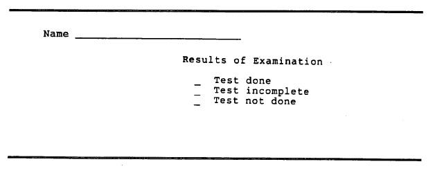 Clinic Exam: Interview, Physical Exam, ECG, Gen 3 Exam 2
