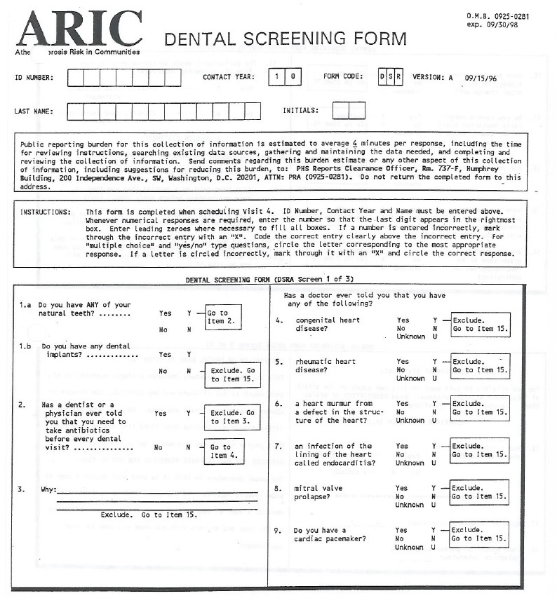 Dental procedures manual version 10 dbgap id phd004487 examples of telephone screening form consent form and interview form go here altavistaventures Gallery