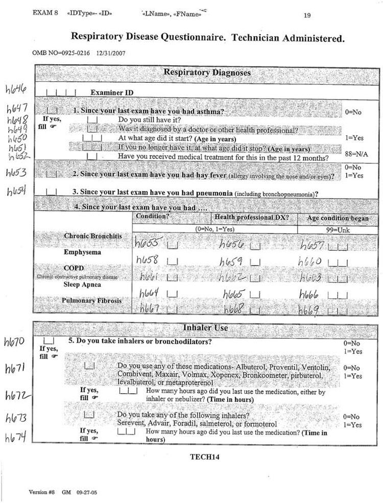 Clinic Exam Data: Interview, Physical Exam, ECG, Omni 1