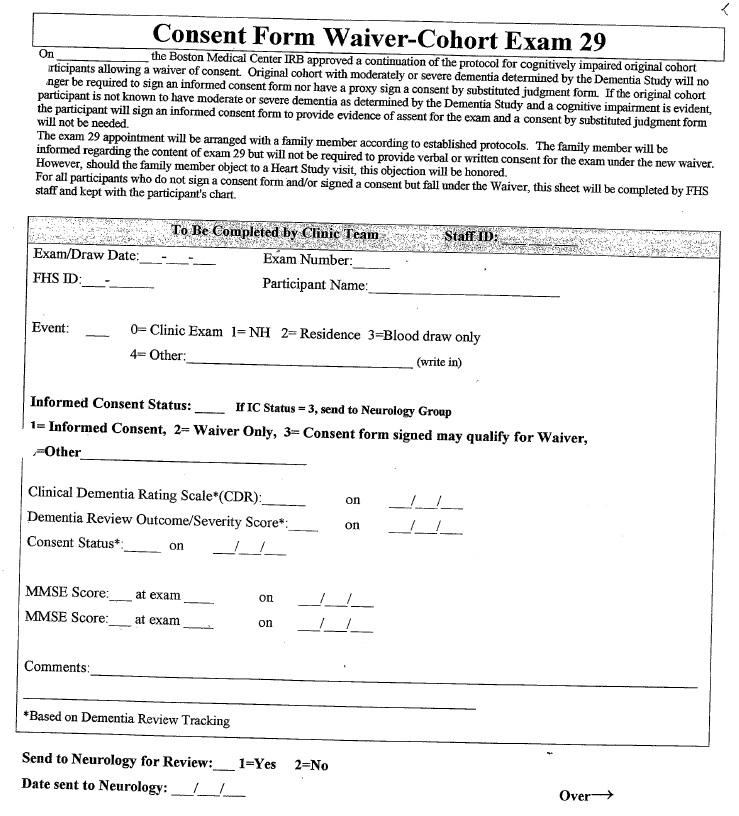 Clinic Exam Interview Physical Exam Ecg Original Cohort