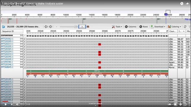 ncbi multiple sequence alignment viewer 1 9 1